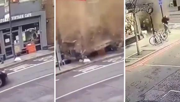 Un hombre se salvó de lo que parecía una muerte segura tras el colapso del techo de un edificio. (Foto: theCHIVE en Facebook)