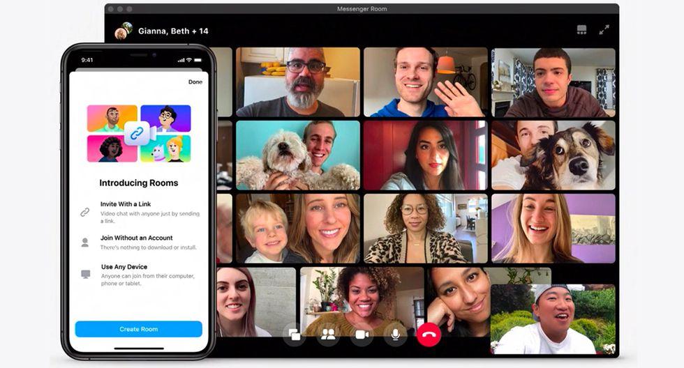 Aprende cómo hacer una videollamada por Messenger Rooms, de Facebook, tanto en tu PC como en tu celular. (Foto: Facebook)