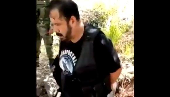 """Erick del Toro, supuesto jefe de sicarios del CJNG y apodado """"M3"""", fue detenido por el ejército de México."""