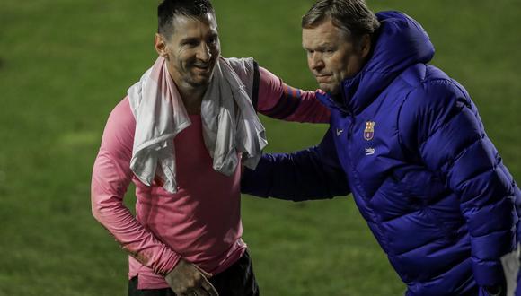 A pesar de muchas polémicas generadas, Ronald Koeman ha aseverado que tiene una estupenda relación con Lionel Messi. (AP Photo/Manu Fernandez)