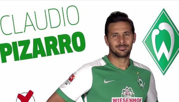 Claudio Pizarro nominado al 11 ideal de temporada de Bundesliga