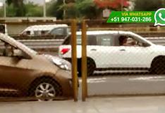 WhatsApp: colectivos estacionan en avenida y nadie los sanciona