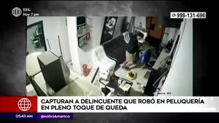 SMP: capturan a delincuente que robó en peluquería en pleno toque de queda