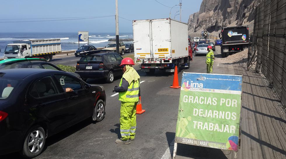 Costa Verde: enmallado seguirá cerrando un carril por dos días - 1