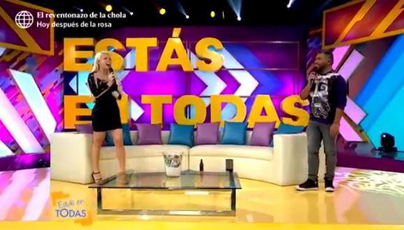 """Sheyla Rojas tras entrevista a Gabriel Soto: """"Me regalo con lacito"""". (Foto: Captura América TV)"""