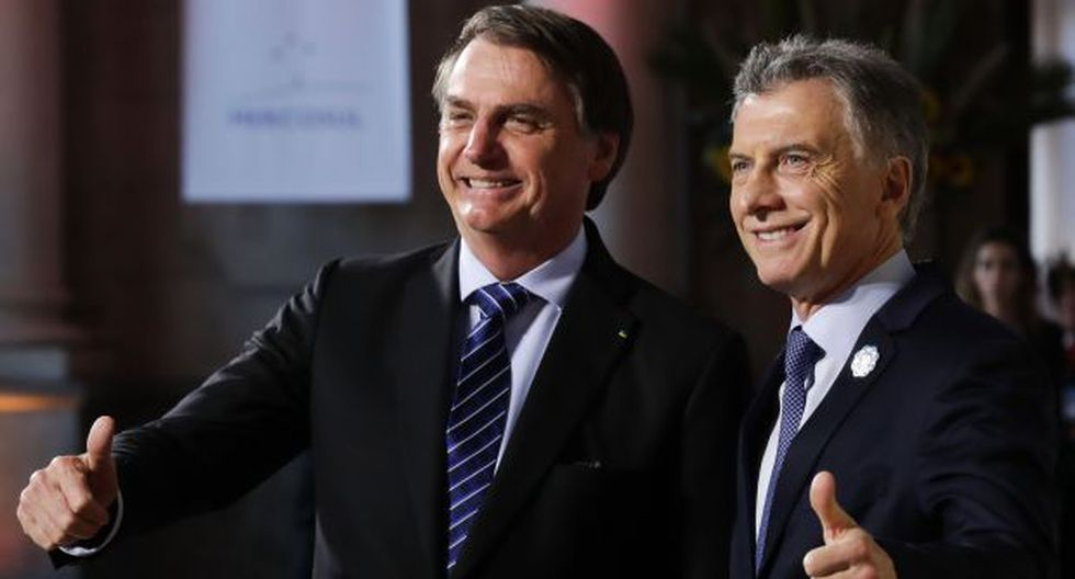 Mauricio Macri y Jair Bolsonaro en la cumbre semestral. (Foto: Reuters)