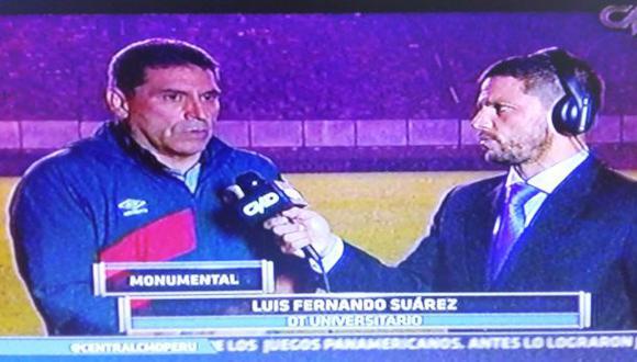 """Luis Fernando Suárez: """"Universitario no va a descender"""""""