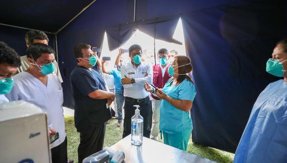 Premier Zeballos llegó hasta Ica. (Foto: Andina)
