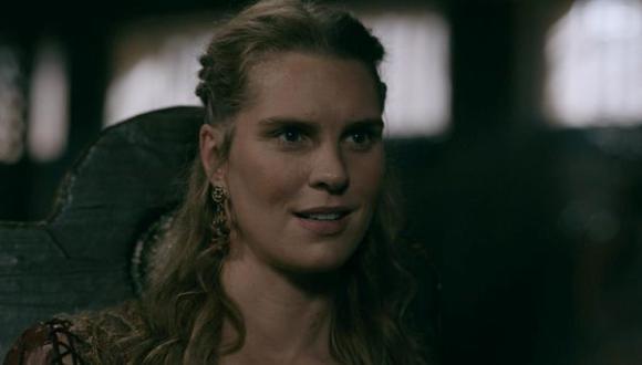 Gunnhild estaba desconsolada por la muerte de su esposo Bjorn y decide ponerle fin a su vida (Foto: History Channel)