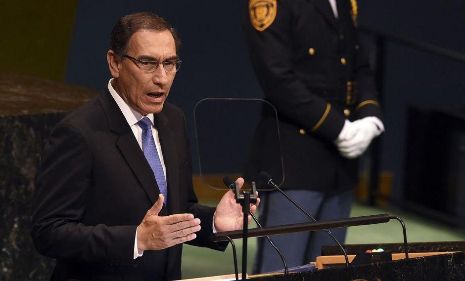 El presidente Martín Vizcarra participó ayer del debate en el período 73 de sesiones de la Asamblea General de las Naciones Unidas. (Foto: AFP)