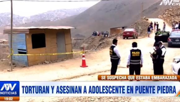 El cuerpo de la menor fue hallado por los vecinos del asentamiento humanos Ampliación Fernando Belaunde Terry. (ATV)