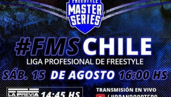 """La FMS Chile inicia su segunda temporada. Teorema va por el bicampeonato, pero no será fácil imponerse en el """"país más rapero del mundo"""" (Foto: Urban Roosters)"""