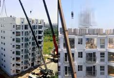 China: la impresionante construcción de un edificio de 10 pisos en menos de 29 horas   VIDEO