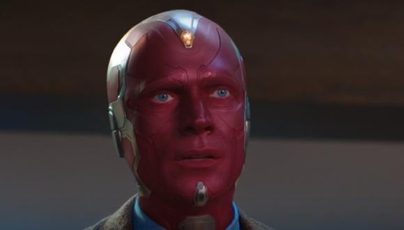 Esta es la apariencia que tiene Vision gracias a los poderes de Wanda, pero no es la realidad (Foto: Disney+/ Marvel)