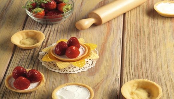 Tartitas de cheesecake y fresa