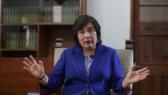 Presidenta del TC, Marianella Ledesma, explica la decisión adoptada en el caso de la vacancia presidencial (Foto: GEC)