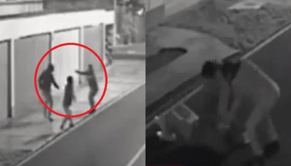 Cámaras de seguridad registraron asalto a joven en la calle Las Camelias de la urbanización Camacho, en La Molina. (Captura: América Noticias)