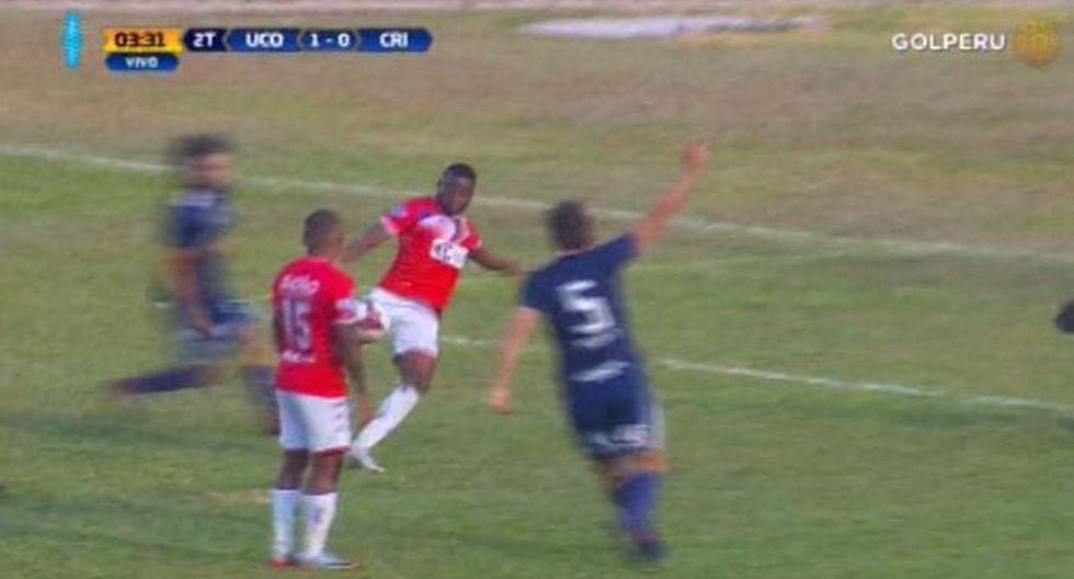 Carlos Preciado tuvo en sus pies el segundo gol de Unión Comercio | Fuente: captura