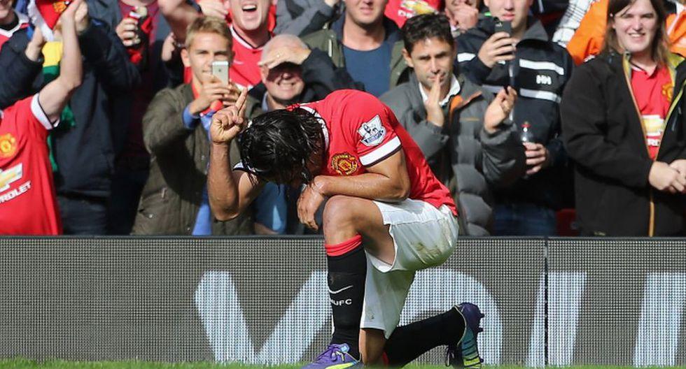 Radamel Falcao celebró así su primer gol en Manchester United - 1