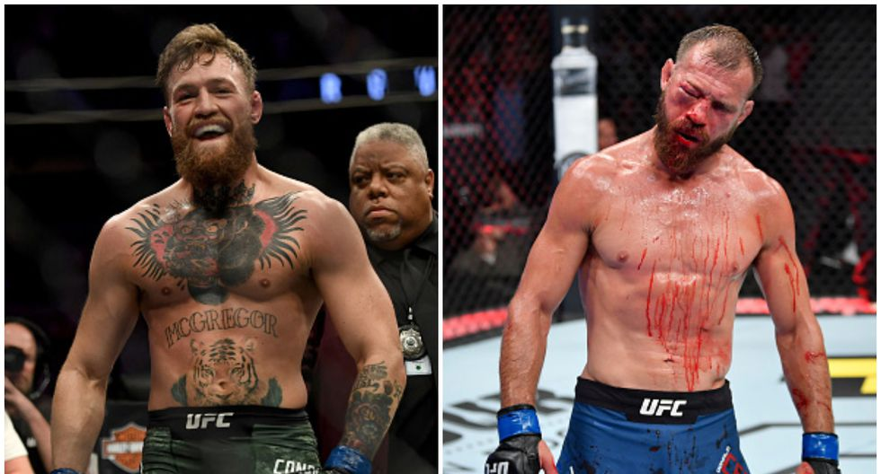 Conor McGregor registra un récord de 21-4 como profesional; Donald Cerrone, 36-13. (Getty Images)