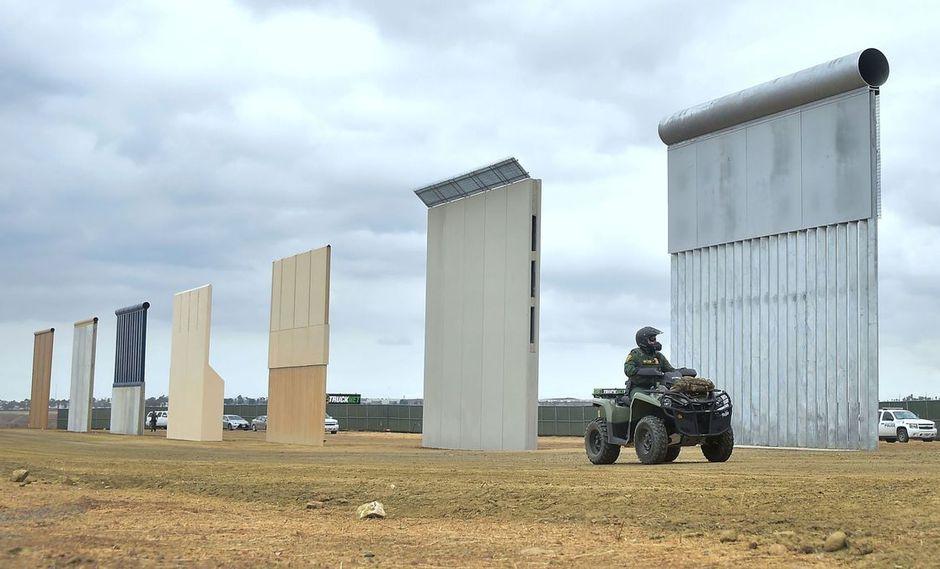 El muro de Trump en San Diego. (Foto: AFP)