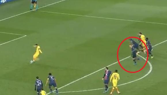 Marco Verratti habría invadido el área en el penal de Lionel Messi. (Captura: ESPN)