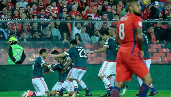 La selección paraguaya goleó 3-0 a Chile en Santiago y quedó cerca de los puestos de clasificación en estas Eliminatorias Rusia 2018. (Foto: Selección paraguaya).
