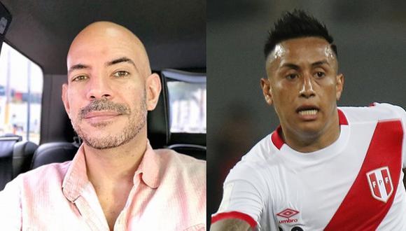 Ricardo Morán anima a  Christian Cueva. (Fotos. Archivo El Comercio)