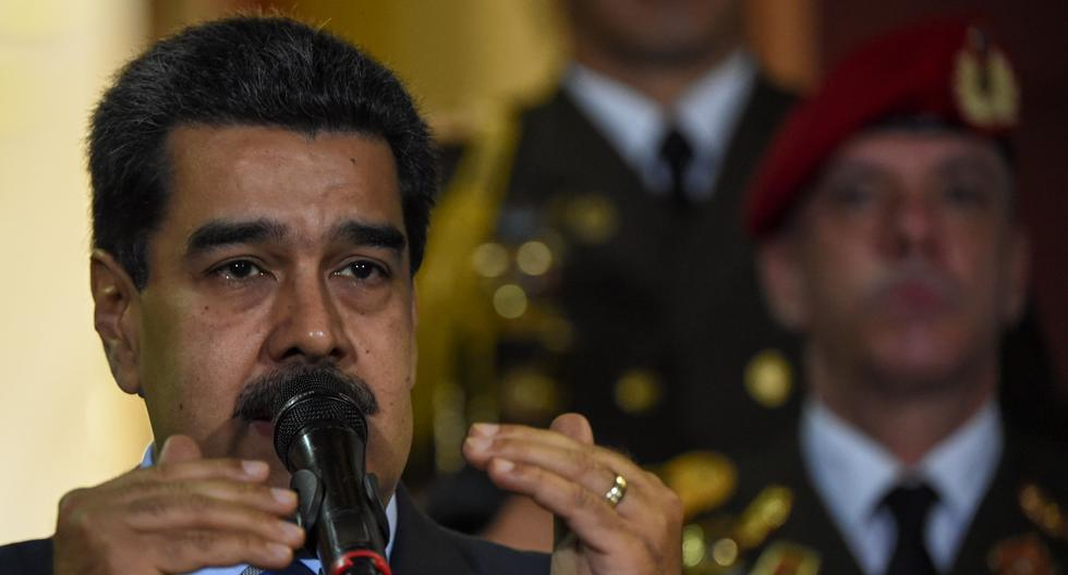 Venezuelan President Nicolas Maduro speaks after meeting Chilean High Commissioner for Human Rights Michelle Bachelet at Miraflores Presidential Palace in Caracas, on June 21, 2019. Bachelet arrived in Venezuela Wednesday as part of a visit to review the country's ongoing economic and political crisis. / AFP / YURI CORTEZ