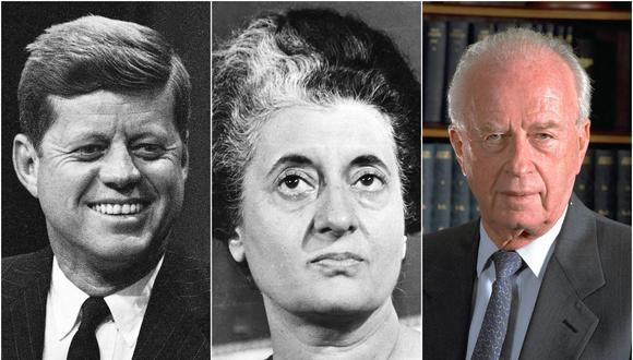 John F. Kennedy, Indira Ghandi e Isaac Rabin son algunos de los jefes de Gobierno que murieron violentamente mientras aún ejercían sus mandatos.