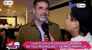 """Javier Carmona en una de sus últimas apariciones en público: """"Tula es una gran madre y una gran mujer"""""""