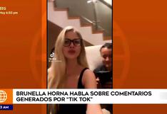 Brunella Horna responde tras polémico TikTok junto a su novio Richard Acuña