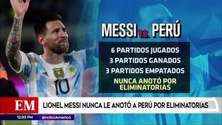 Lionel Messi nunca le anotó a la selección peruana por Eliminatorias