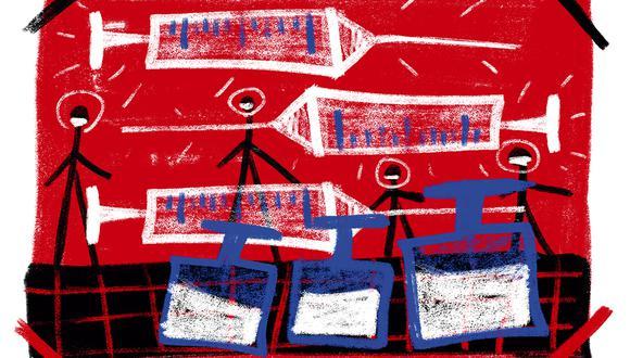 """""""Los resultados de la fase preclínica han sido verificados por el Instituto Nacional de Salud del Ministerio de Salud"""". (Ilustración: Giovanni Tazza)"""