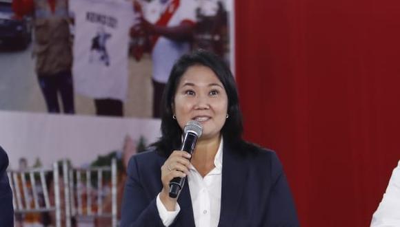 Keiko Fujimori, quien es investigada por el caso Odebrecht, postula por tercera vez a la Presidencia de la República. (Foto: Referencial / Archivo El Comercio)