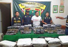 Piura: incautan 130 kilos de droga valorizada en un millón de dólares