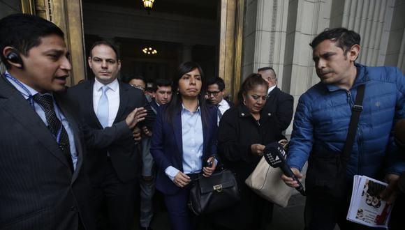 La abogada de Keiko Fujimori, Giulliana Loza, también aseguró que no se reunió con el magistrado Ernesto Blume. (Foto: Mario Zapata / GEC)