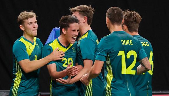 Australia venció 2-0 a Argentina y dio la sorpresa en el debut de Tokio 2020. (Foto: AFP)
