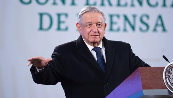 Andrés Manuel López Obrador durante una rueda de prensa matutina hoy, en el Palacio Nacional de Ciudad de México (México). (Foto: EFE/Presidencia de México).