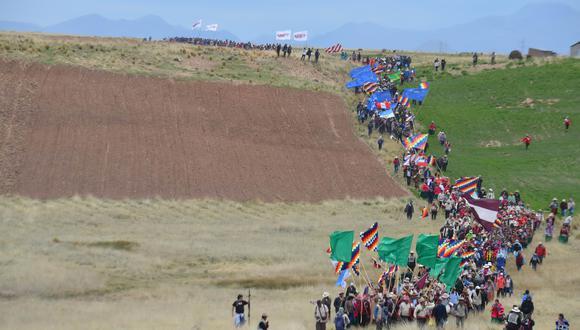 Se trató de la V Caminata Regional y III Internacional por el Qhapaq Ñan, que programa anualmente el Ministerio de Cultura con diversas entidades locales. (Foto: Carlos Fernández)