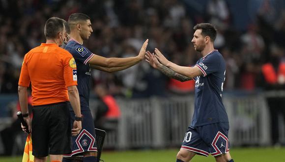 Hakimi ha aportado mucho más que Messi en este inicio de temporada en el PSG. (Foto: AP)