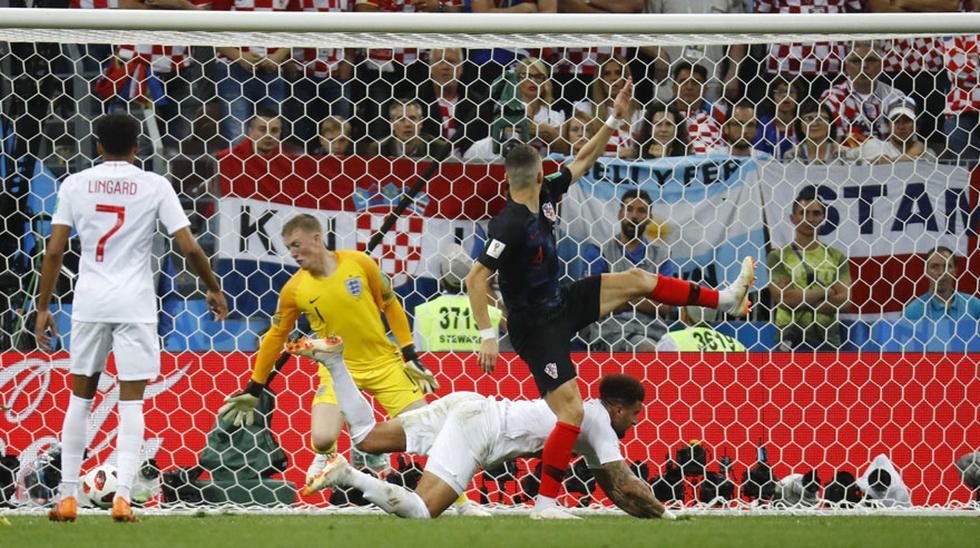 Inglaterra vs. Croacia EN VIVO: el gol de Perisic para el 1-1 [VIDEO] (Foto: captura de FOX)