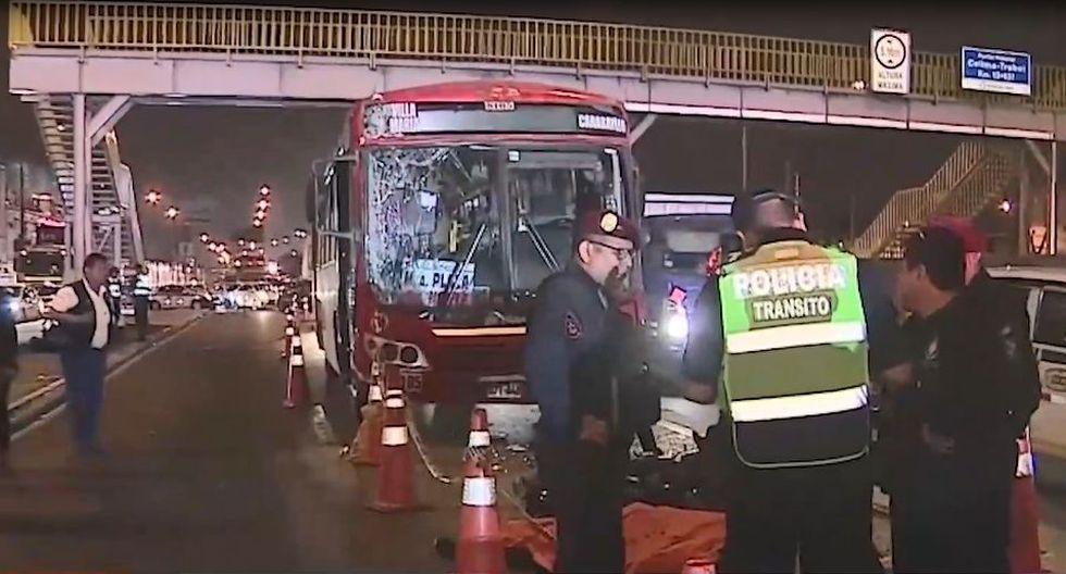 El accidente ocurrió a la altura del kilómetro 13 de la Panamericana Norte, en el distrito de San Martín de Porres. (Captura: América Noticias)