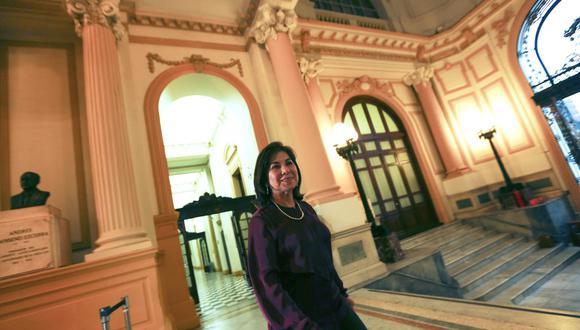 Martha Chávez Cossio es en la actualidad asesora de la primera vicepresidencia del Parlamento. (Foto: El Comercio)