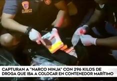 Callao: capturan a 'narco ninja' que pretendía camuflar 296 kilos de droga un contenedor