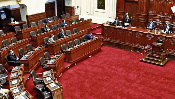 Congreso votó con 78 legisladores por disposiciones del distanciamiento social. (GEC)