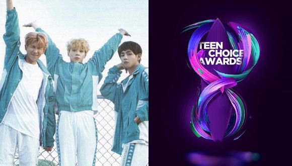 BTS compite en los Teen Choice Awards 2018. (Fotos: Internet)