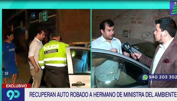 Hermano de la ministra del Ambiente fue asaltado a mano armada esta madrugada en San Martín de Porres. (Captura: Latina)