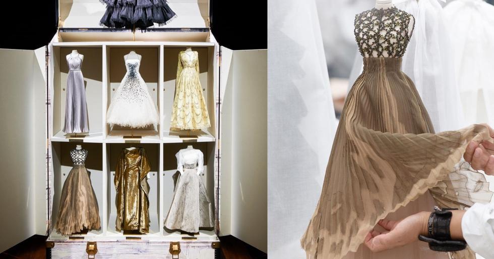 Maria Grazia Chiuri y el equipo de la casa de moda francesa configuró una colección de 37 piezas miniatura para la temporada otoño . invierno 2020 - 2021. (Fotos: IG/ @dior, @bof)