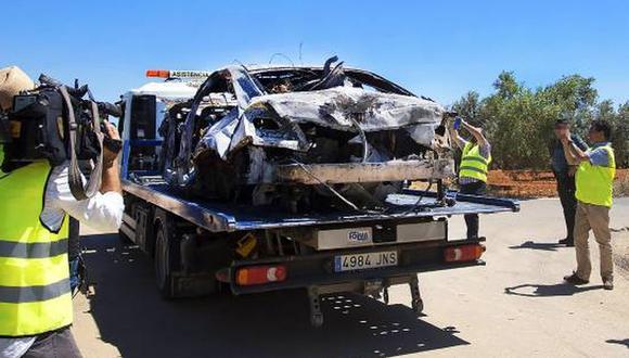 José Antonio Reyes falleció el último sábado en un accidente automovilístico. En redes sociales se filtraron imágenes del estado del auto luego del aparatoso desastre (Foto: AS English)